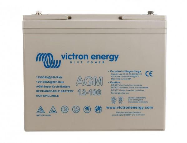 Victron 12V/100Ah AGM Super Cycle Batterie 12 Volt 100 Ah