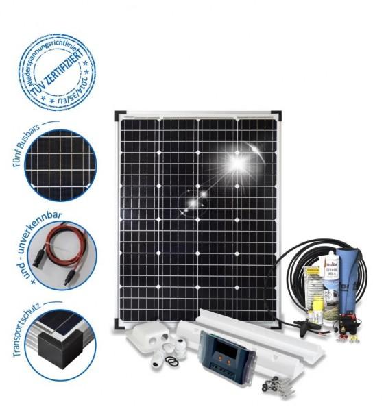 Solarset 100 Watt Komfort für Wohnmobile mit Spoilerprofilen