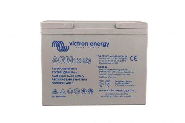 Victron 12V/60Ah AGM Super Cycle Batterie 12 Volt 60 Ah