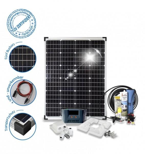 Solarset 100 Watt Komfort für Wohnmobile mit Eckprofilen