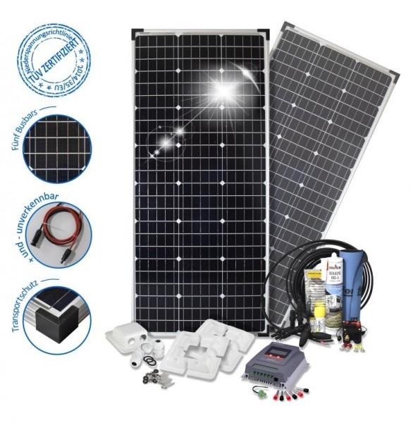 Solarset 200 Watt Komfort S für Wohnmobile mit Eckprofilen