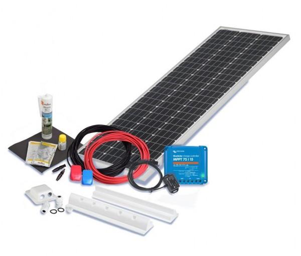 Solarset 100 Watt Premium S für Wohnmobile mit Spoilerprofilen