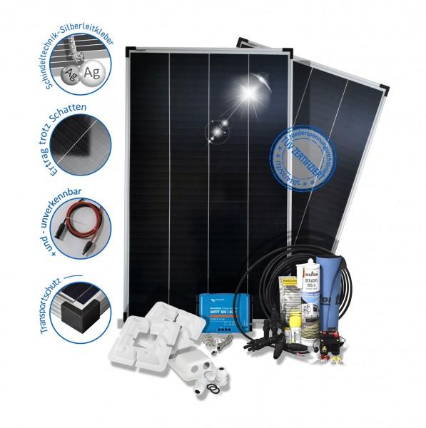 2x150W 300W Wohnmobil Solaranlage Premium Monokristallin 12V mit Mppt Laderegler SunPower