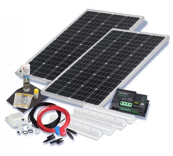 wohnmobil solarset 200 watt camper 12 volt solaranlage. Black Bedroom Furniture Sets. Home Design Ideas