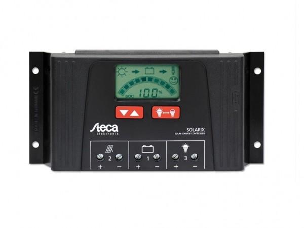 STECA Solar Laderegler Solarix 2525 mit LCD Anzeige und USB Ladebuchse