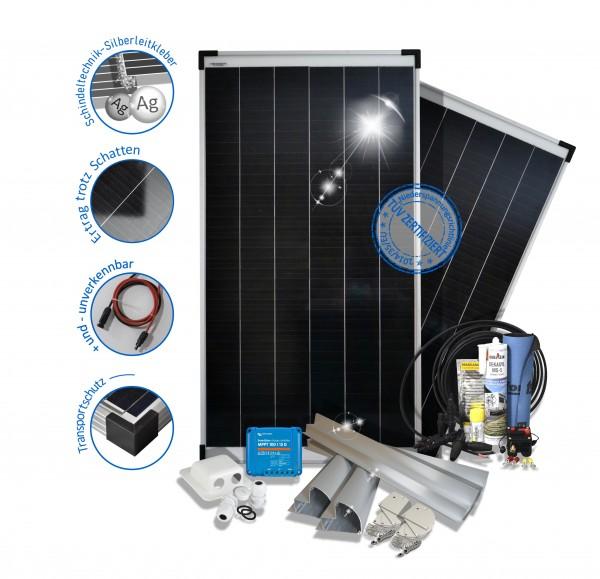 200W Solaranlage mit Mppt Victron Laderegler, Halter, das Set fürs Wohnmobil