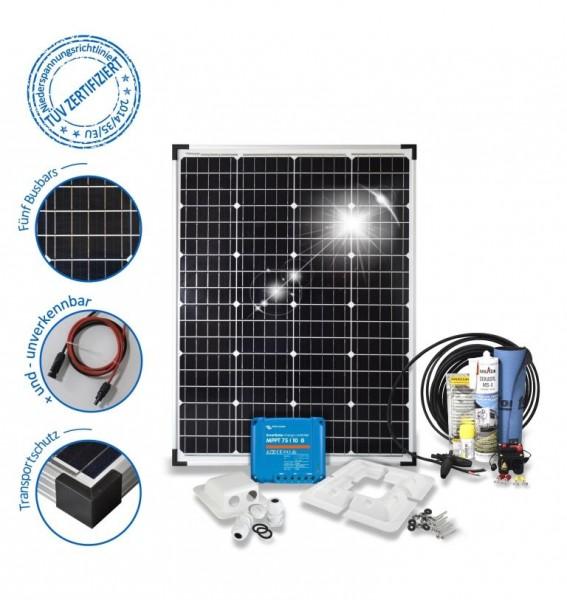 Solarset 100 Watt Premium für Wohnmobile mit Eckprofile
