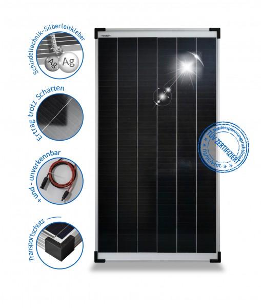 SOLARMODUL 100 W mono Solarpanel 24V Wohnmobil 100 Watt Schindel