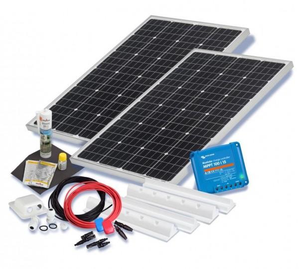Solarset 200 Watt Premium für Wohnmobile mit Spoilerprofilen