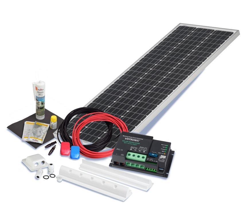 wohnmobil solarset 100 watt camper 12 volt solaranlage caravan prevent gmbh. Black Bedroom Furniture Sets. Home Design Ideas