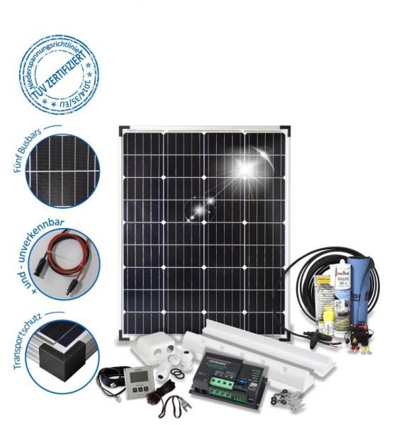 Solarset 100 Watt Camper für Wohnmobile mit Spoilerprofilen