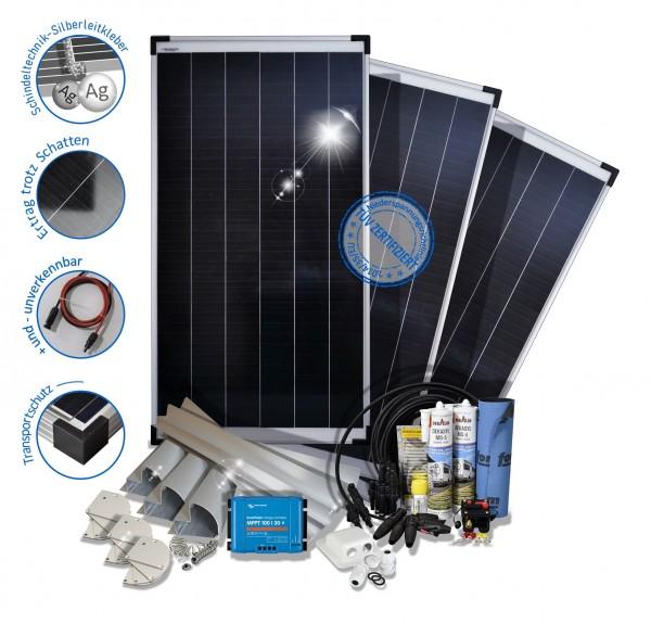 300W Wohnmobil Solaranlage Premium Monokristallin 12V mit Mppt Laderegler