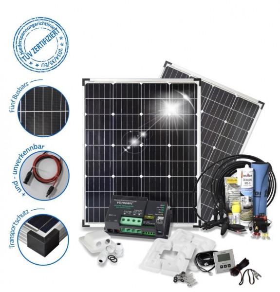 Solarset 200 Watt Camper für Wohnmobile mit Eckprofilen