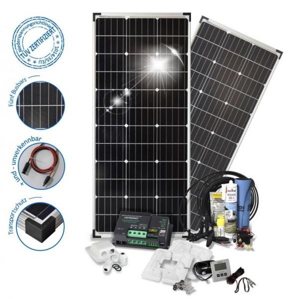 Solarset 200 Watt Camper S für Wohnmobile mit Eckprofilen
