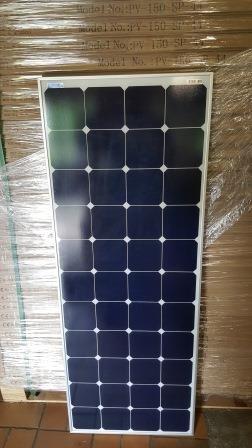 Solarmodul 150W Solarpanel SunPower 44 rückseitig kontaktierte Solarzellen Vorderseite