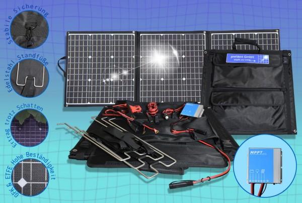 Solartasche ETFE Oberfläche 135W Solarmodul faltbar mit MPPT Laderegler viel Zubehör