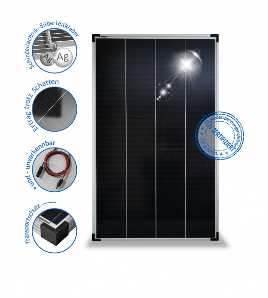 Solarmodul 150W Solarpanel 24V Monokristallin Schindel PV-150-M-72-SH preVent