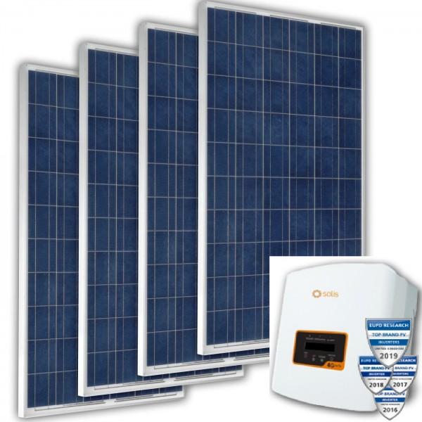 Solarmodule und Netzwechselricher
