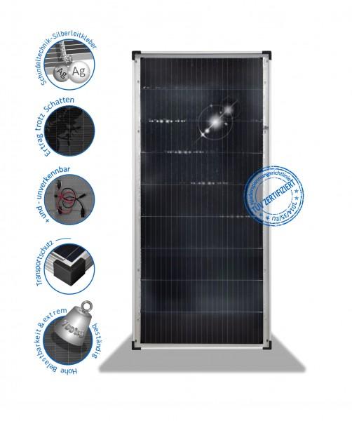 Solarmodul 180 W Wohnmobil Solarpanel Mono mit PERC Schindel PV-180-M-9x24-36V