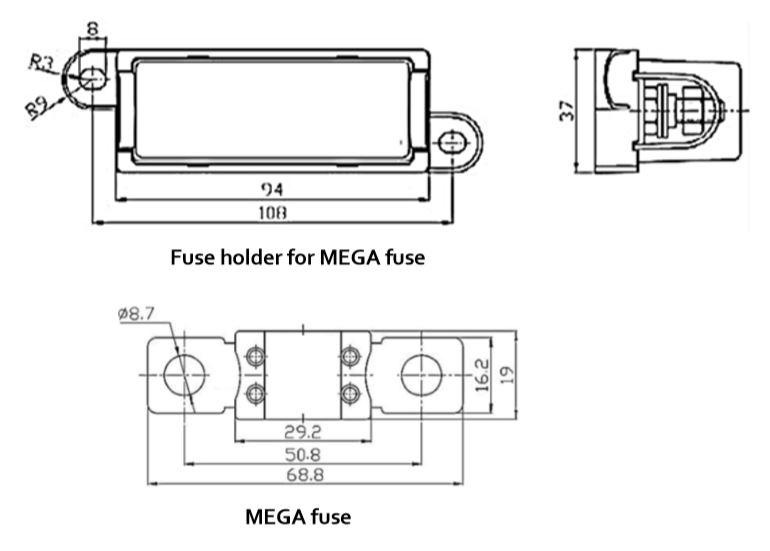 Mega-Fuse-Holder