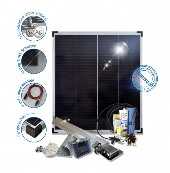 Solaranlage Wohnmobil Caravan Reisemobile 100W Polykristallin 12V Basic