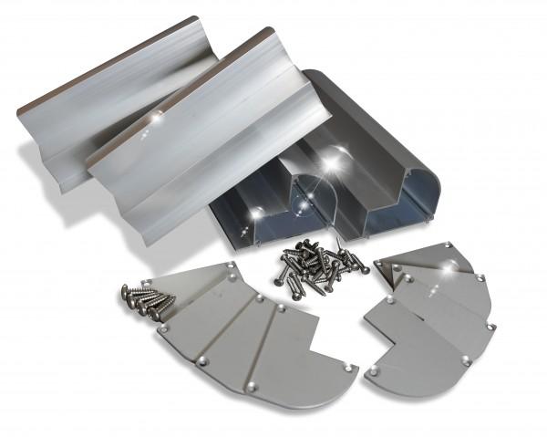 Solarmodul Halterung für Wohnmobil Aluminiumspoilerprofil - PSP-A18 Länge 180 mm - preVent -