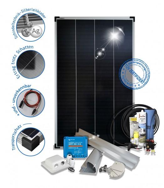 150W Wohnmobil Solaranlage Premium Monokristallin 12V mit Mppt Laderegler