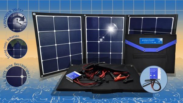 Solartasche 120W Solarmodul faltbar mit MPPT Laderegler mit Bluetooth, viel Zubehör Solarkoffer