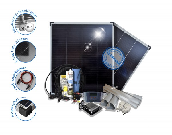 Solaranlage Wohnmobil Caravan Reisemobile 200W Polykristalline 12V Basic