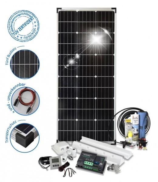 Solarset 100 Watt Camper S für Wohnmobile mit Spoilerprofilen