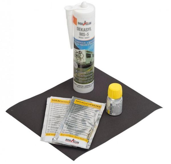 Klebeset Dekalin DEKAsyl MS-5 290 ml weiß für zwei Halteprofilsets