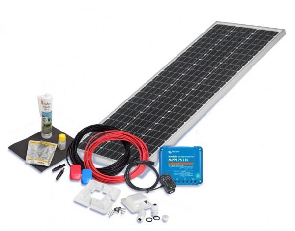 Solarset 100 Watt Premium S für Wohnmobile mit Eckprofilen