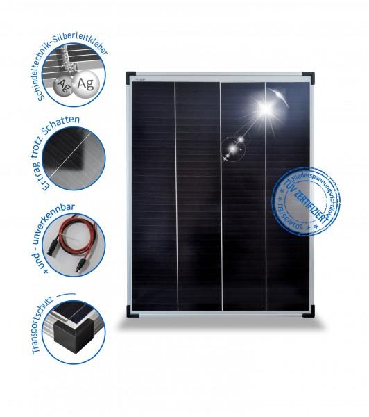 Solarmodul 100 W Wohnmobil Solarpanel 100 Watt 12V Mono mit PERC Schindel