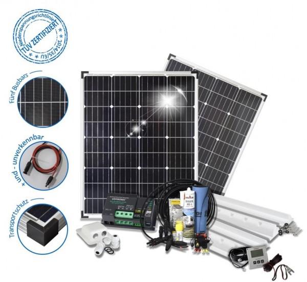 Solarset 200 Watt Camper für Wohnmobile mit Spoilerprofilen