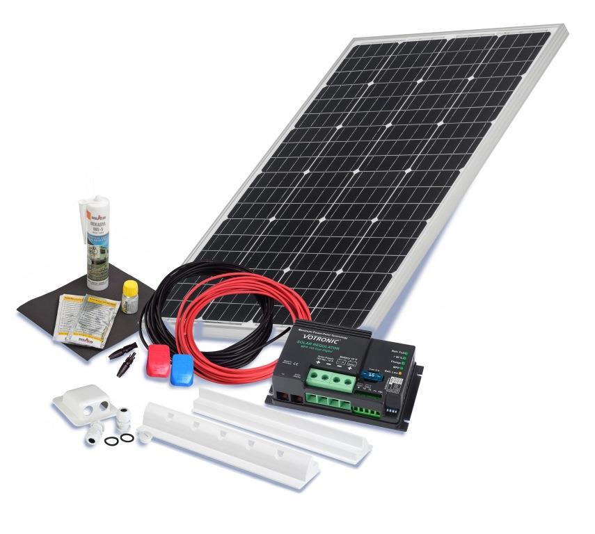 wohnmobil solarset 100 watt camper 12 volt solaranlage. Black Bedroom Furniture Sets. Home Design Ideas