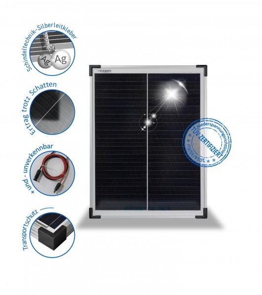 PV-30-M-36 SH Solarmodul 30Wp der Marke preVent GmbH mit Schindeltechnik