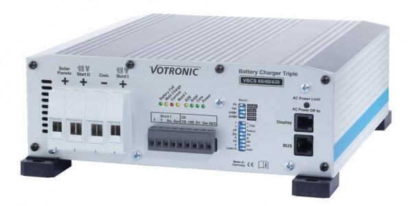 Votronic VBCS 60/40/430 Triple Solarladeregler Batterieladegerät Ladewandler Kombi