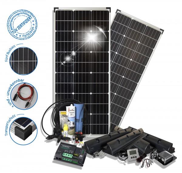 Solarset 200 Watt Camper S für Wohnmobile mit Spoilerprofilen