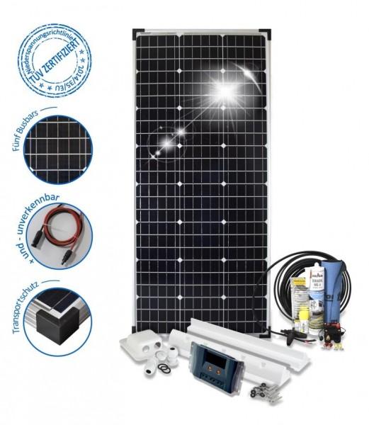 Solarset 100 Watt Komfort S für Wohnmobile mit Spoilerprofilen