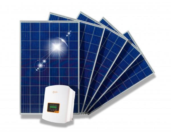 1500 Watt Haussolaranlage PV-Anlage Solarmodule + Wechselrichter ohne Befestigung