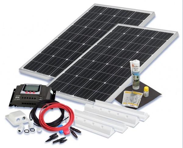 Solarset 200 Watt Basic für Wohnmobile mit Spoilerprofilen
