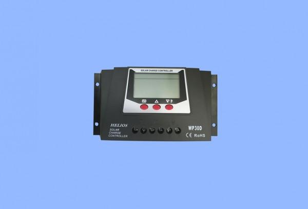 Automatik Solar Laderegler 30A 12V 24V Solar Regler Controller AGM GEL Batterie mit Display / WP30D