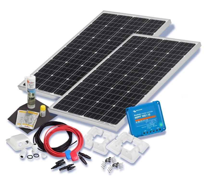 wohnmobil solarset 200 watt premium 12 volt solaranlage. Black Bedroom Furniture Sets. Home Design Ideas