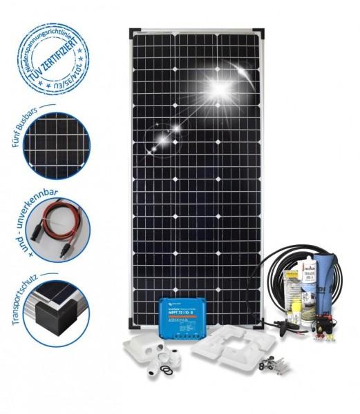 Solaranlage 100W Premium S für Wohnmobile mit Eckprofilen
