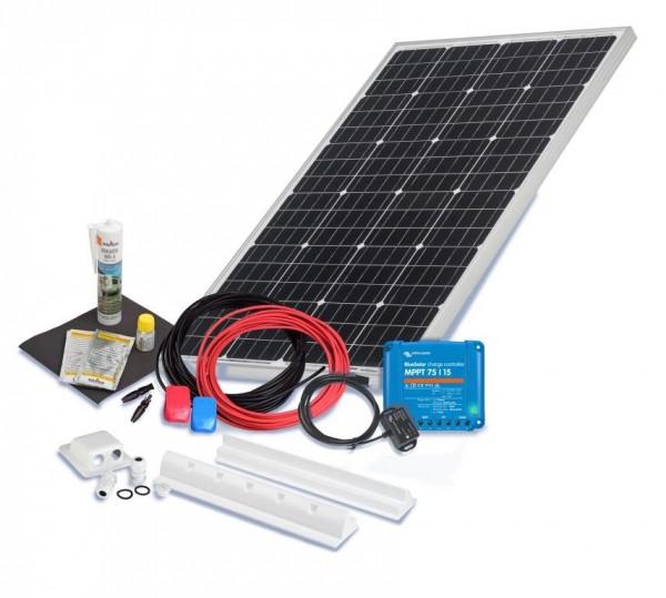Solarset 100 Watt Premium für Wohnmobile mit Spoilerprofilen