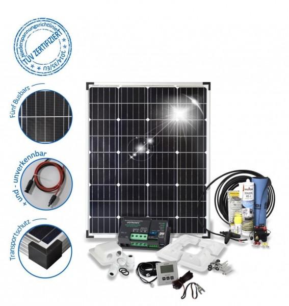 Solarset 100 Watt Camper für Wohnmobile mit Eckprofile