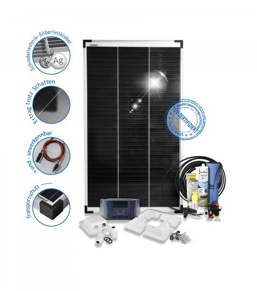 Solaranlage Wohnmobil Caravan Reisemobile 100W Monokristalline 12V Basic