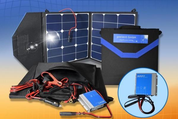 Solartasche 50W Solarmodul faltbar mit MPPT Laderegler viel Zubehör Solarkoffer