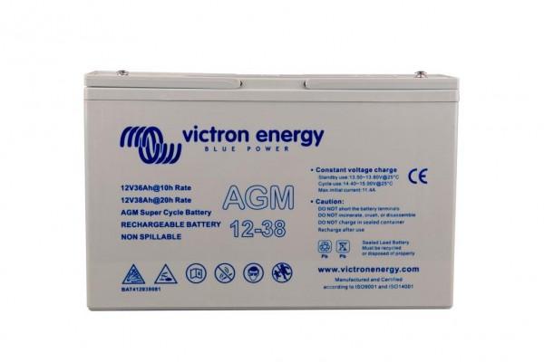Victron 12V/38Ah AGM Super Cycle Batterie 12 Volt 38 Ah